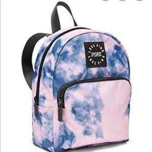 Pink VS tie dye small backpack
